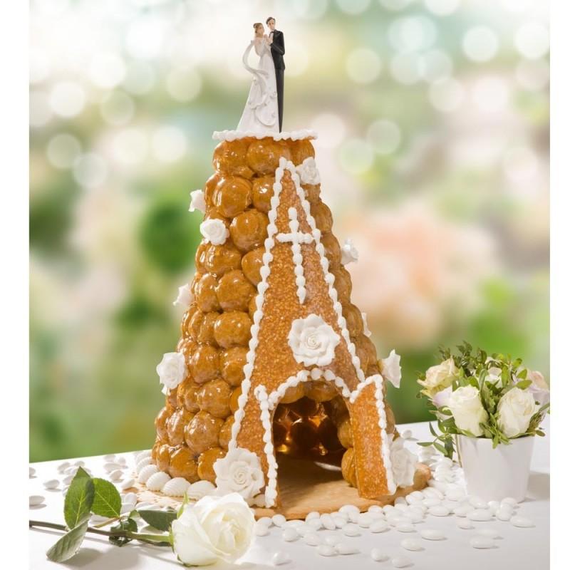 Croquéglise - pièce montée de choux mariage et baptême - pâtisserie La Romainville