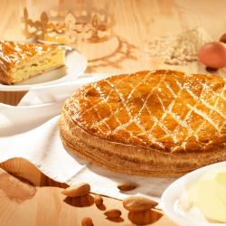 Galette pâte feuilletée pur beurre à la frangipane - Pâtisserie La Romainville
