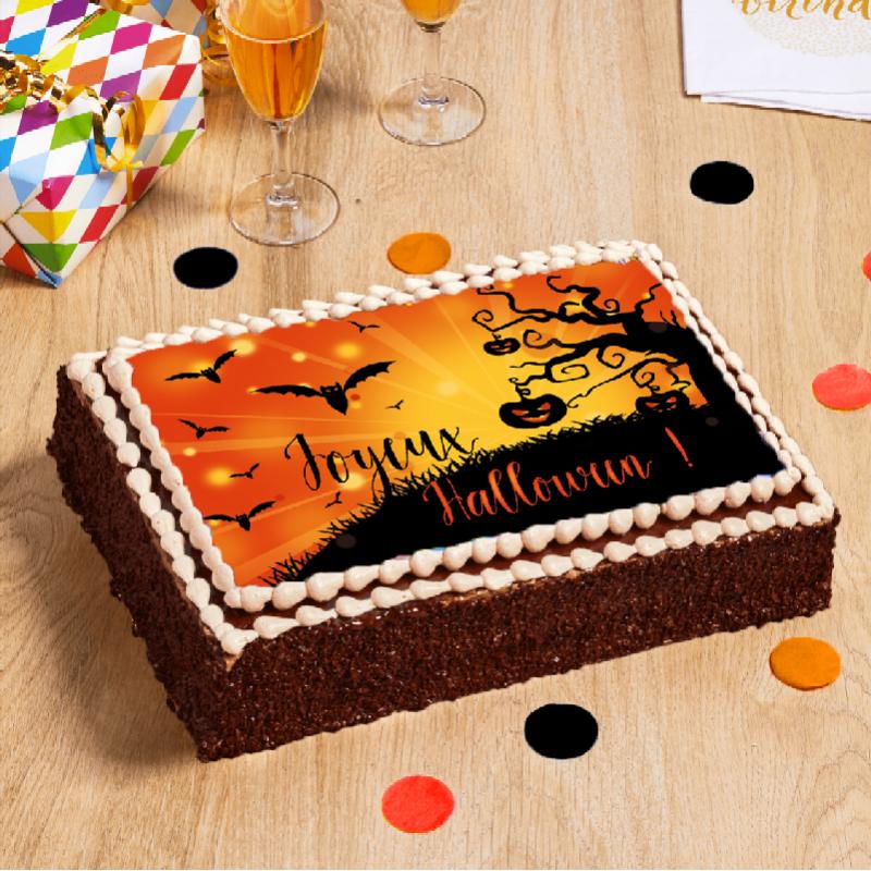 gâteau Arbre Enchanté d'Halloween