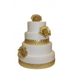 Wedding Cake Or - Pièce Montée mariage  - Pâtisserie La Romainville