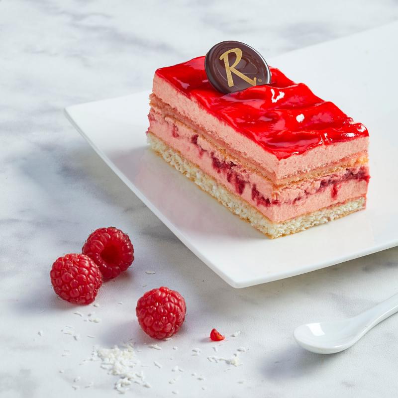 Framboisine  La Romainville - un dessert frais à la crème framboise et framboises