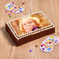 gâteau au chocolat avec photo - personnalisez le avec la photo de votre choix