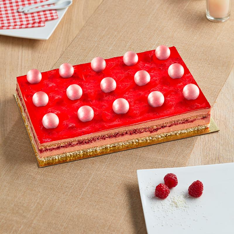 Bingo Framboise - Dessert frais à la framboise et décors de fêtes - La Romainville
