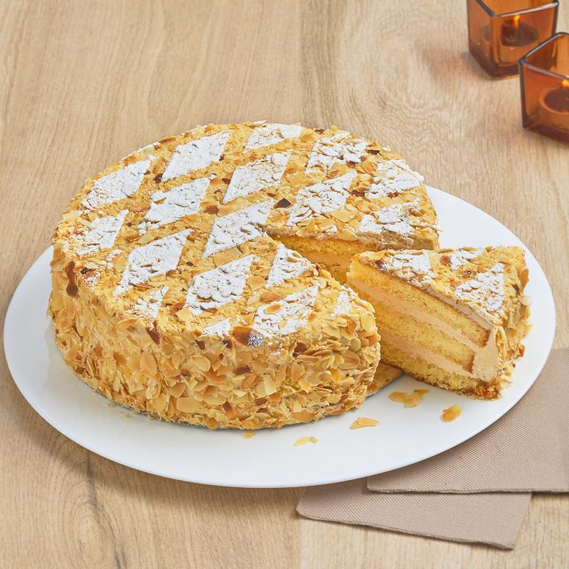 Moka Napoléon - Gâteau  à la crème Noisette - Pâtisserie La Romainville