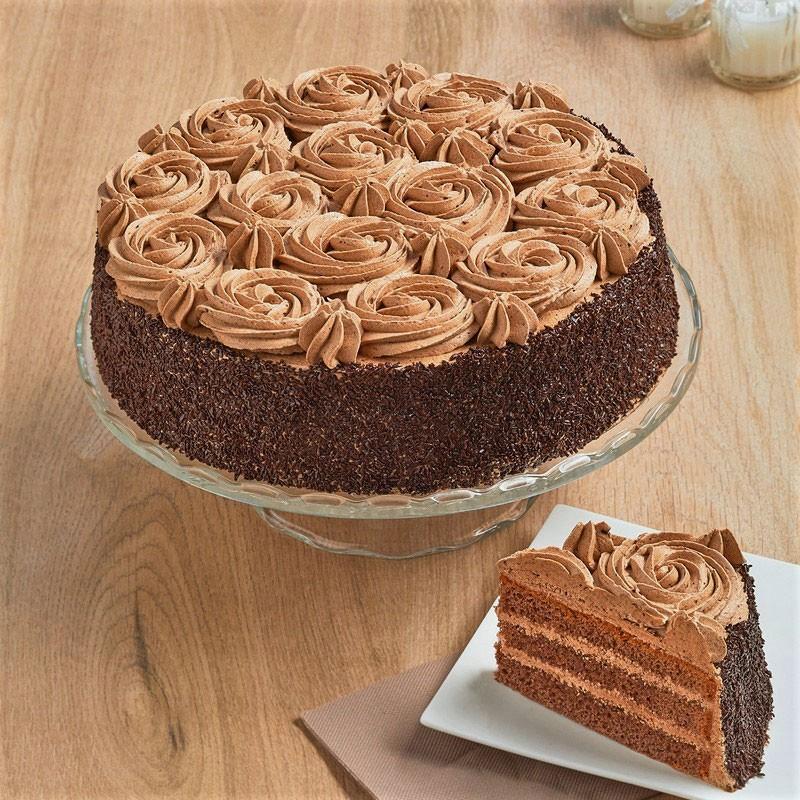 Fleurs de chocolat - layer cake au chocolat - La Romainville