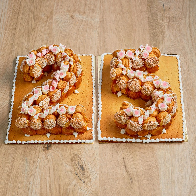 Number Cake Choux - pièce montée de choux mariage anniversaire - Pâtisserie La Romainville