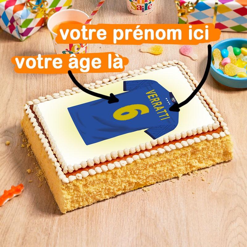 gâteau vanille maillot foot italie