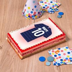 Framboisine gâteau football équipe de France