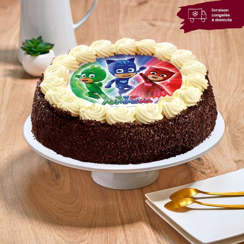Gâteau chocolat enfant - Thème Pyjamasks