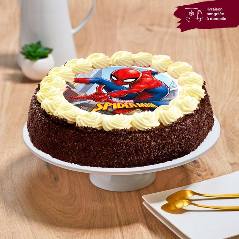 Gâteau chocolat enfant - Thème Spider-Man
