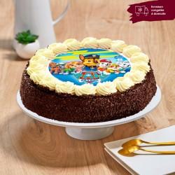 Gâteau chocolat enfant - Thème Pat Patrouille