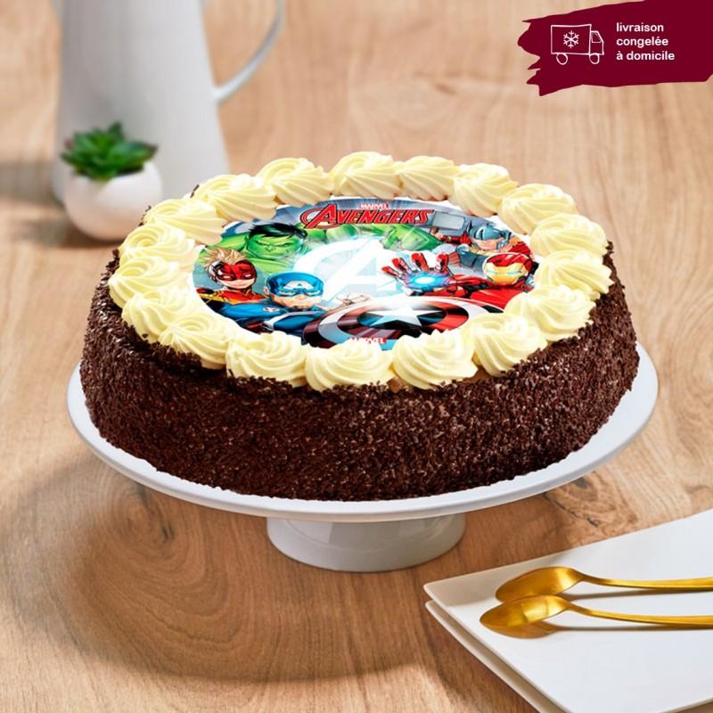 Gâteau chocolat enfant - Thème Avengers