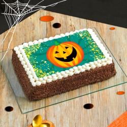 Gâteau Citrouille Halloween - layer cake au chocolat des Pâtisseries La Romainville - disponible en livraison à domicile