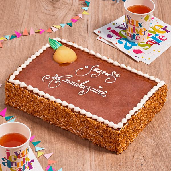 gâteau inscription personnalisée